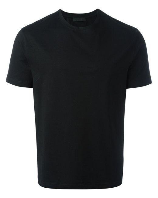 Prada   Black - Round Neck T-shirt - Men - Cotton/spandex/elastane - M for Men   Lyst