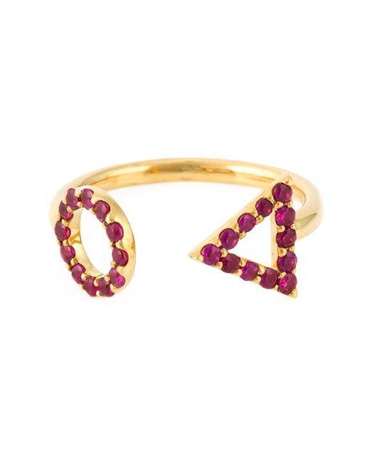 Eshvi - Red 'july' Ring - Lyst