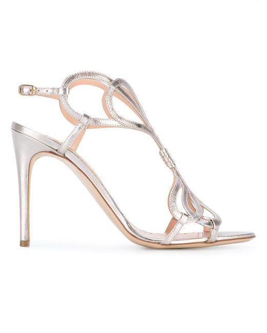Rupert Sanderson | Metallic Sandals | Lyst