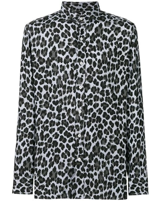 Tom Ford - Gray Leopard Print Shirt for Men - Lyst