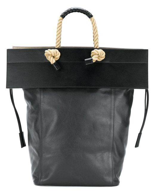 Ports 1961 - Black Rope Handle Flap Tote Bag - Lyst