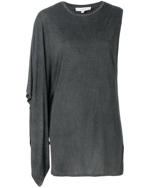 IRO - Gray Asymmetric Sleeveless Top - Lyst
