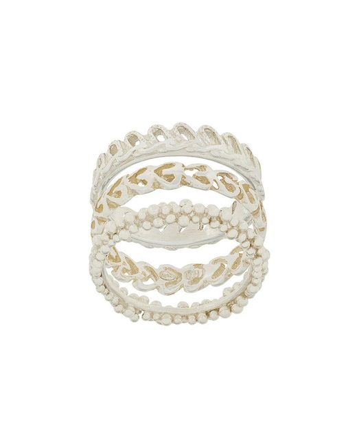 Wouters & Hendrix - Metallic My Favourite Textured Stacked Ring - Lyst