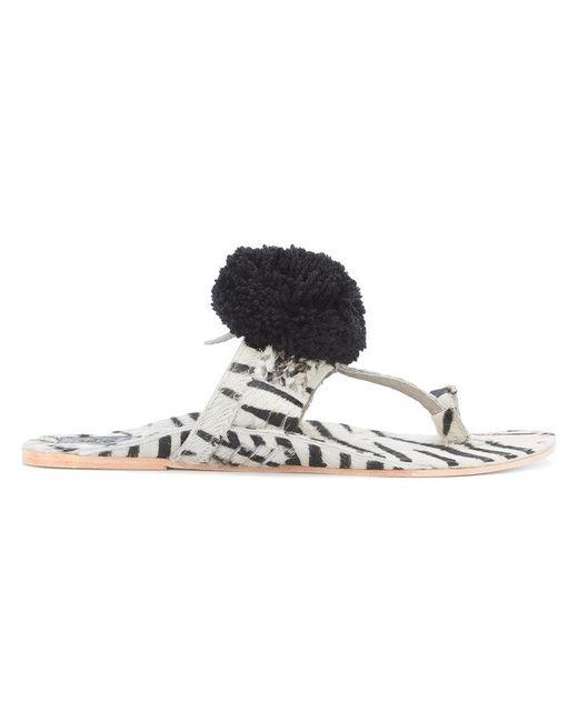 Figue - White Zebra Sandals - Lyst