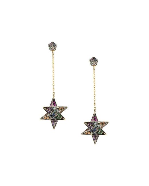 Noor Fares - Metallic Merkaba & Cone Dress Earrings - Lyst
