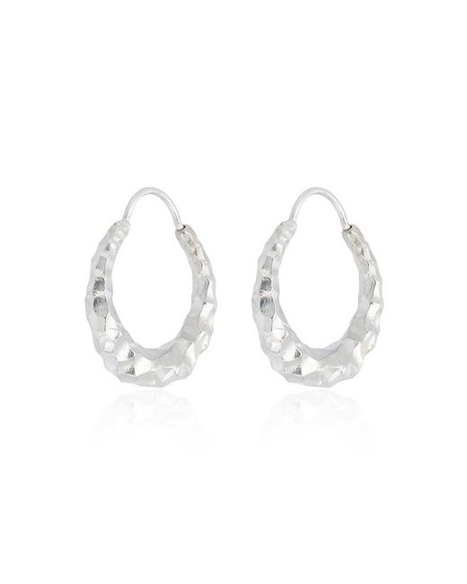 All_blues - Metallic Silver Baby Snake Earrings - Lyst