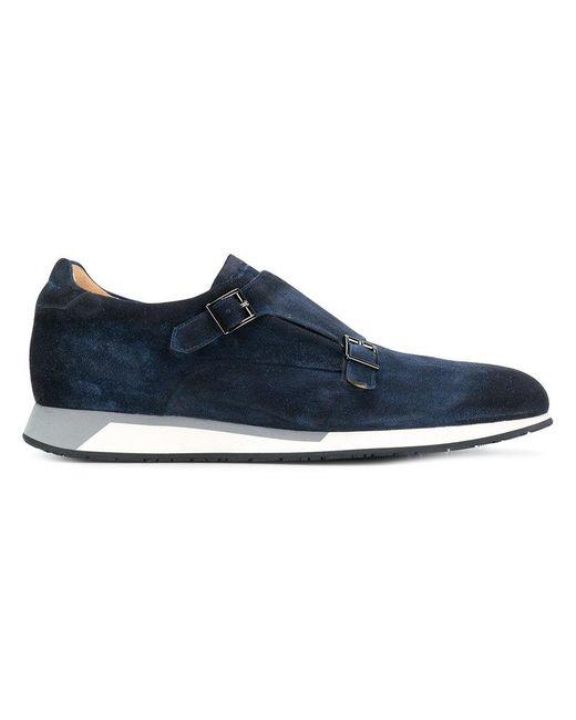 Santoni - Blue Contrast Sole Monk Shoes for Men - Lyst