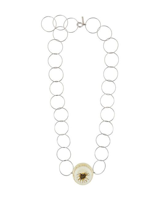 Marni - Gray Ring Plate Necklace - Lyst