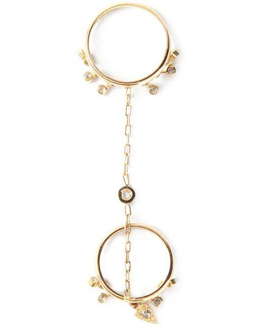 Natasha Zinko - Yellow Double Chain Ring - Lyst