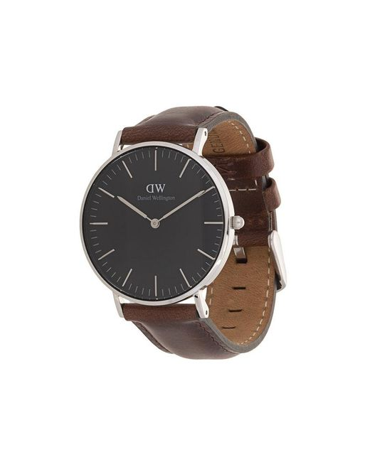 Daniel Wellington - Brown Classic Black Bristol Watch - Lyst
