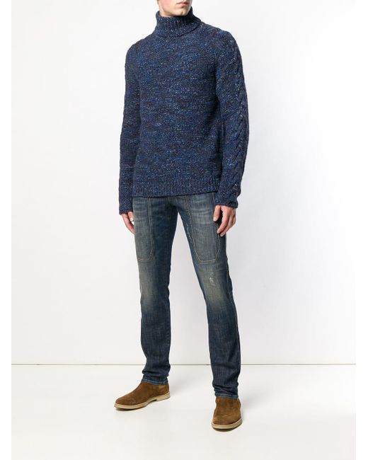in Turtleneck Jeckerson Lyst Men Sweater Blue for ptznWqwB