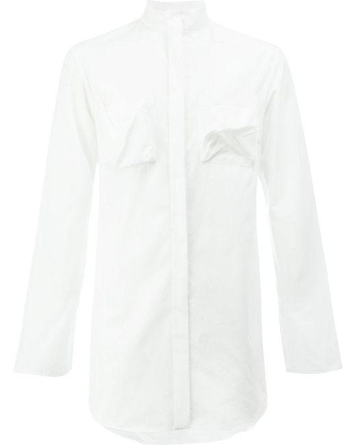 Moohong | White Plain Long Shirt for Men | Lyst