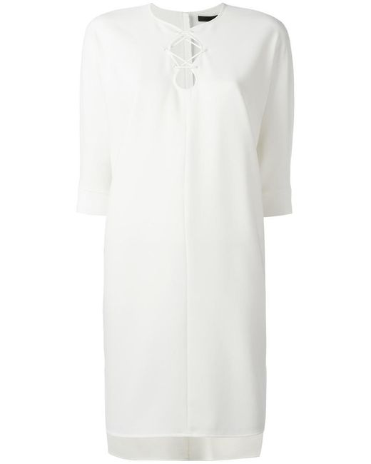 Alexander Wang - White Lace-up Dress - Lyst