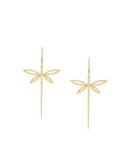 Anapsara - Metallic 'dragonfly' Earrings - Lyst