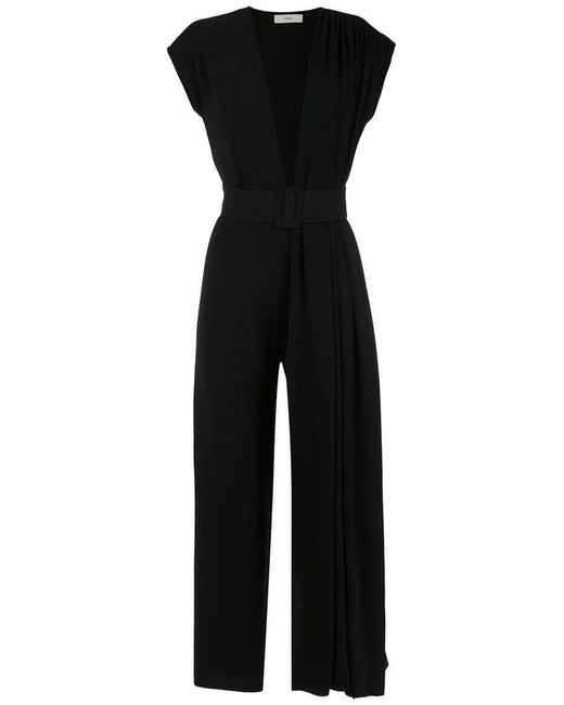 Egrey - Black Deep V Neck Jumpsuit - Lyst