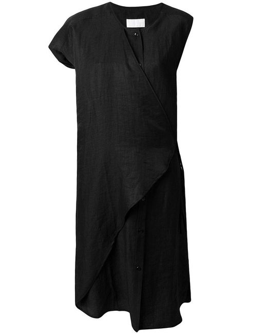 Reality Studio - Black Single Sleeve Wrap Dress - Lyst