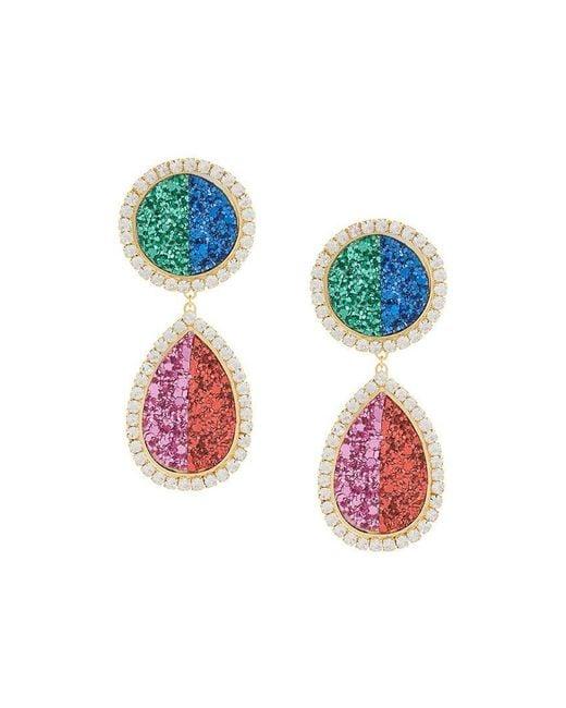 Shourouk - Multicolor Shimmer Drop Earrings - Lyst