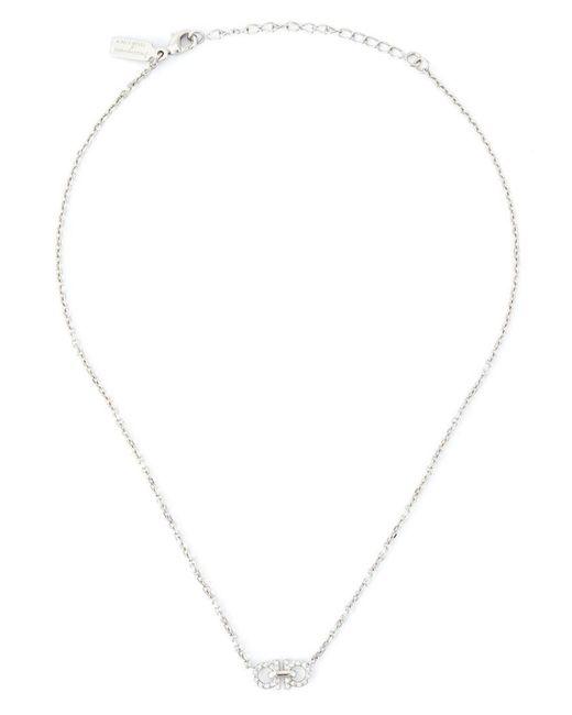 Ferragamo | Metallic Gancini Charm Necklace | Lyst
