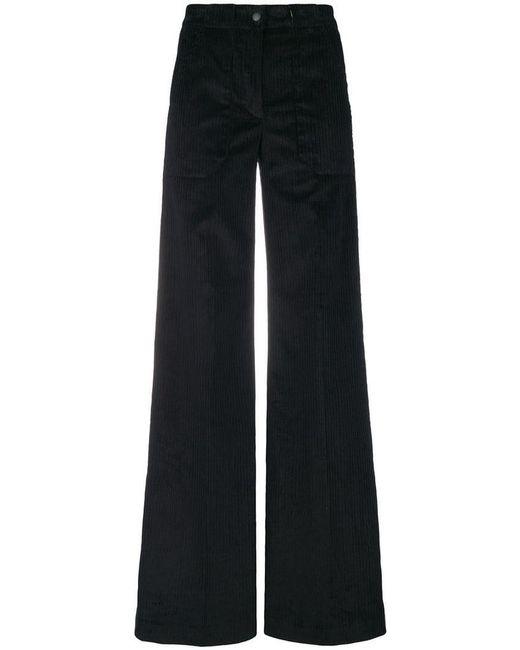 L'Autre Chose - Black Flared Suit Trousers - Lyst
