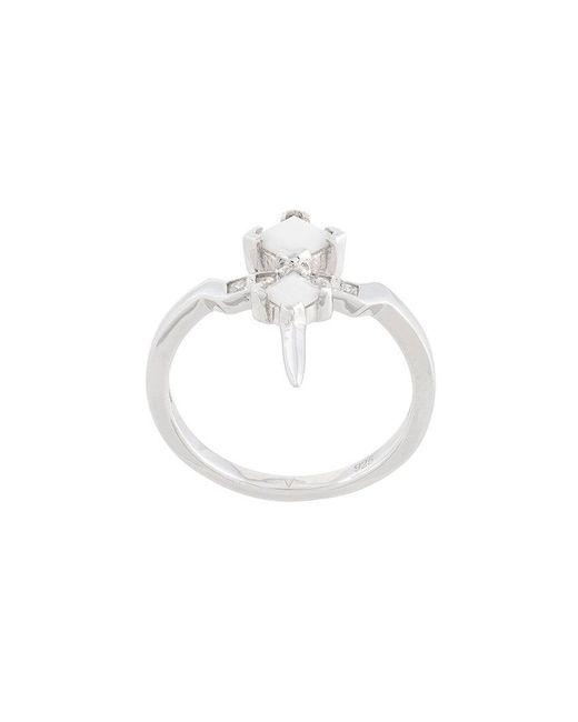 V Jewellery - Metallic Bonnie Ring - Lyst