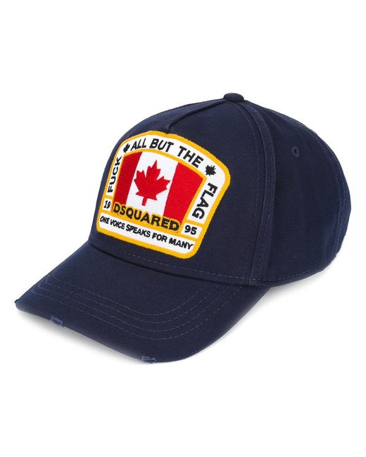 c51a377c0553db DSquared² Canada Patch Baseball Cap in Blue for Men - Lyst