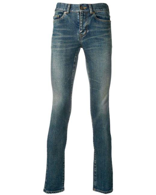 Saint Laurent Blue Skinny Jeans for men