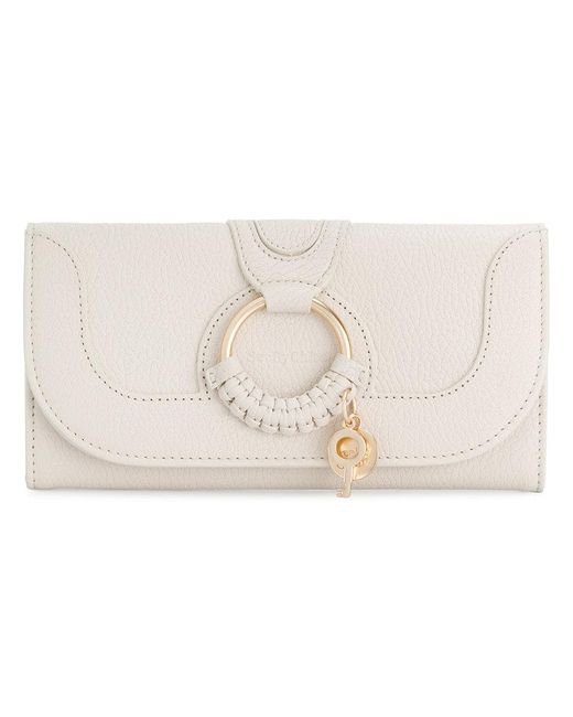See By Chloé - White Ring Detail Wallet - Lyst