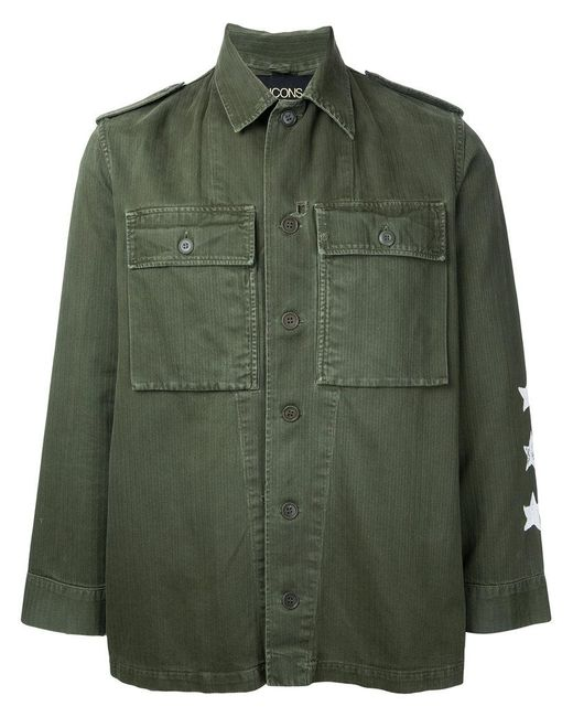 Icons | Green Plain Shirt for Men | Lyst