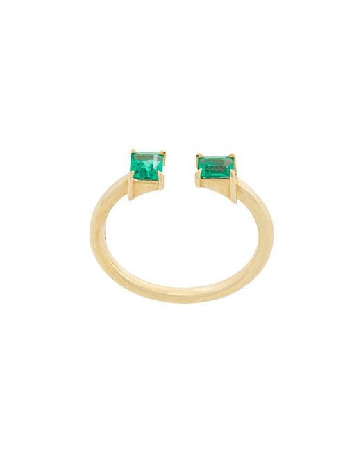 Jemma Wynne - Green Open Stack Ring - Lyst
