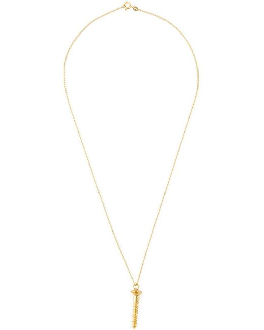 True Rocks | Metallic 'screw' Necklace | Lyst