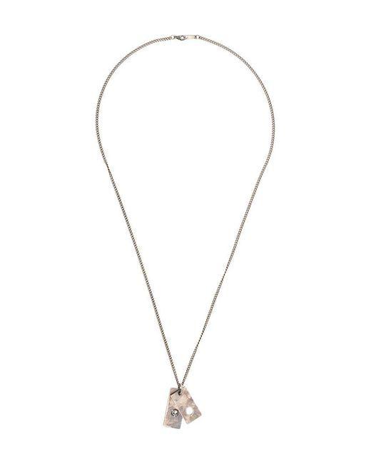 Tobias Wistisen - Metallic Skull Plate Necklace for Men - Lyst