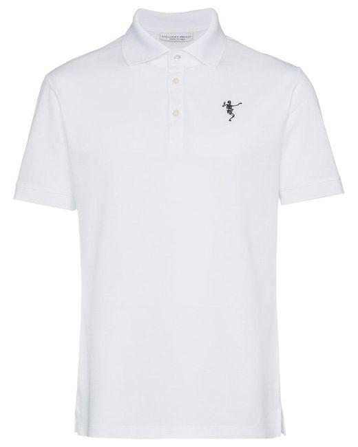 Alexander McQueen T-shirt en coton à imprimé squelette dansant eVtzWaVi