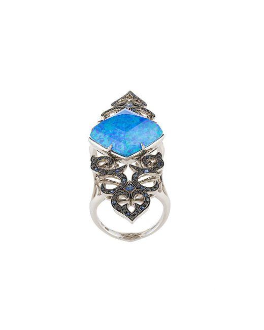 Stephen Webster - Blue Crystal Haze Long Finger Ring - Lyst