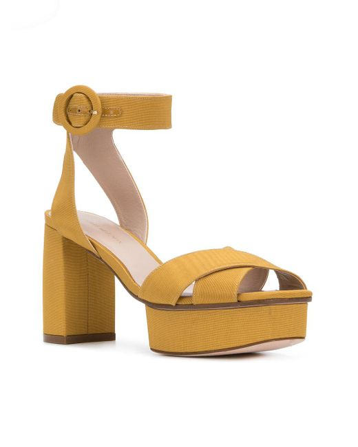 1d26d20b8c3 ... Stuart Weitzman - Metallic Carmina Platform Sandals - Lyst ...