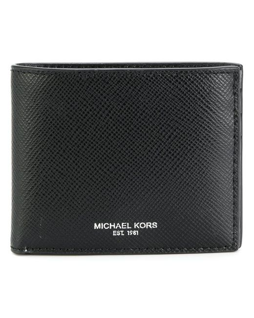 Michael Kors | Black Logo Stamp Billfold Wallet for Men | Lyst