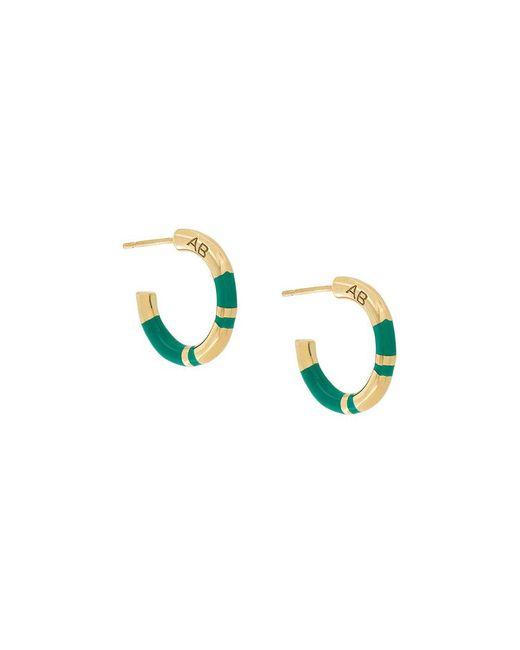 Aurelie Bidermann - Green Small Hoop Positano Earrings - Lyst