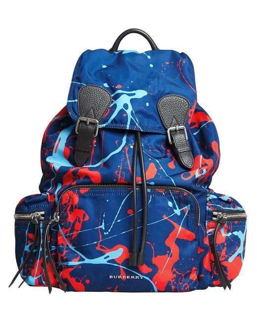 Burberry - Blue Large Rucksack Backpack - Lyst