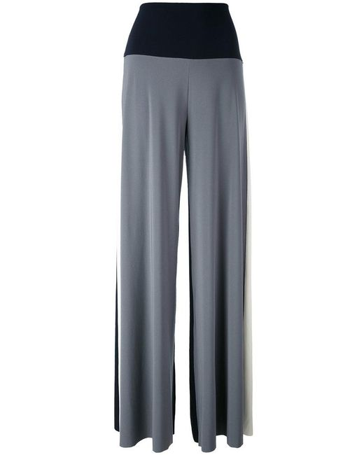 Norma Kamali | Blue Tri-color Palazzo Pants | Lyst