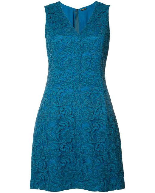 Adam Lippes - Blue Lace Mini Dress - Lyst