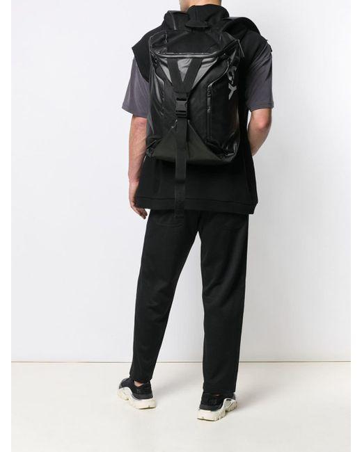 bf96ca24f260 ... Y-3 - Black Base Backpack for Men - Lyst ...