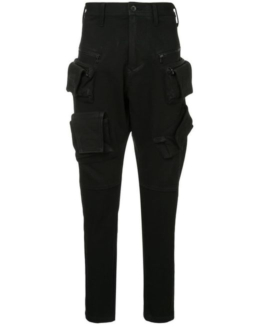 Julius - Black Cargo Tapered Trousers for Men - Lyst