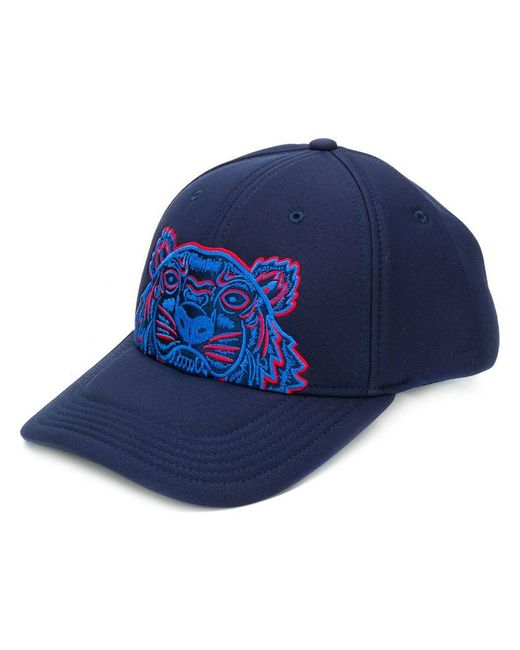 KENZO - Blue Tiger Embroidered Cap for Men - Lyst