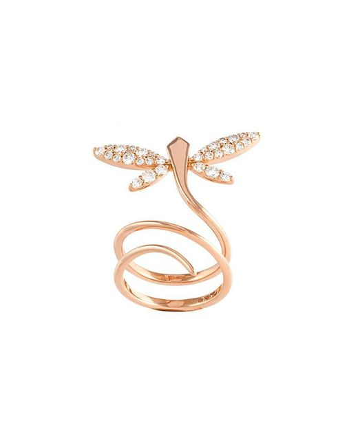 Anapsara - Metallic 'small Dragonfly' Diamond Ring - Lyst