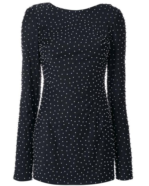 Cristina Savulescu - Black Micro Pearl Embellished Dress - Lyst
