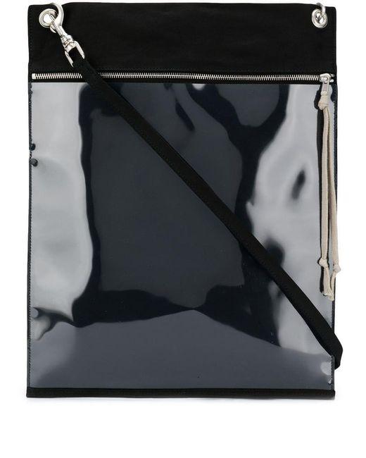 Lyst - Rick Owens Drkshdw Black Shoulder Bag in Black 597386dd29393