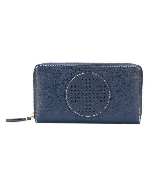 Tory Burch | Blue Zip Wallet | Lyst