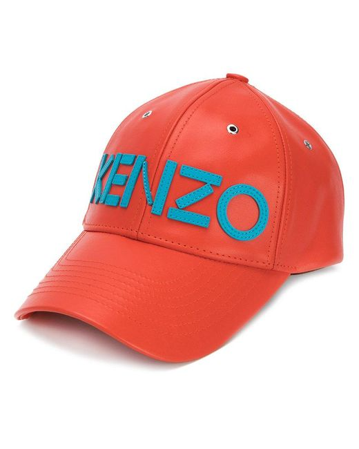 KENZO - Orange Logo Cap for Men - Lyst