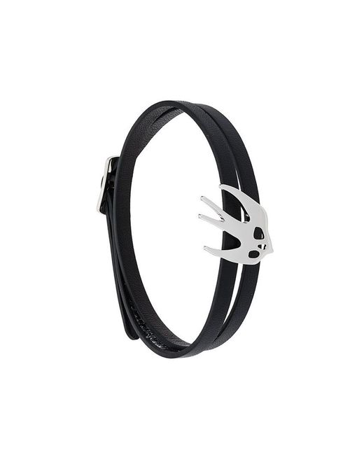 McQ Alexander McQueen - Black Wrap Around Swallow Bracelet - Lyst