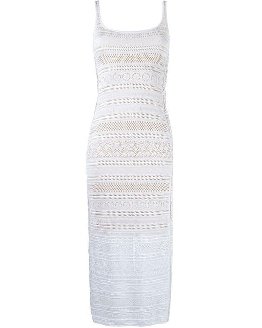 Cecilia Prado - White Knit Midi Dress - Lyst