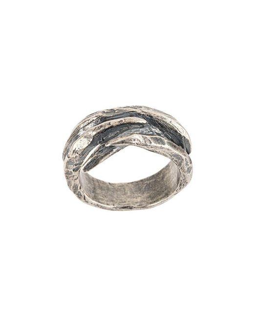 Tobias Wistisen - Metallic Twisted Ring for Men - Lyst
